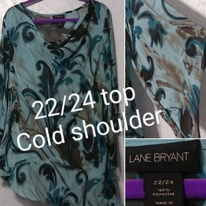 Lane Bryant top size 22/24 blouse shirt